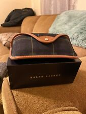 Ralph Lauren RL Sunglasses Case Soft Shell Protective Travel Carrier Plaid