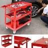3 Tier Heavy Duty Workshop Garage Mechanic Utility Trolley Service Tool Cart UK