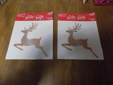 2 New in Pkgs. Reindeer Christmas Iron-On Fabric Transfers