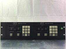 Vintage ABC GVG Broadcast Equipment Video Audio PST Control panel NTC RS 88 89