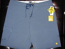 NEW Men's Size 38 QUICKSILVER Swimsuit Board Shorts LIGHT & DARK BLUE Stripe $65