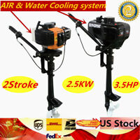 3.5HP 2-Stroke Outboard Motor/Engine w/ Water/Air Cooling for Inflatable Boat