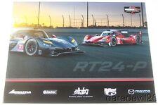 2017 Mazda Motorsports RT24-P DPi Rolex 24 IMSA WTSC postcard Hinchcliffe Pigot