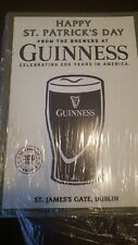 Guinness Irish Stout Happy St. Patrick's Day Metal Beer Sign 20x14� - Brand New!