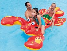GIANT 7FT INFLATABLE LOBSTER RIDE ON SWIMMING POOL BEACH  LILO FLOAT TOY 57528