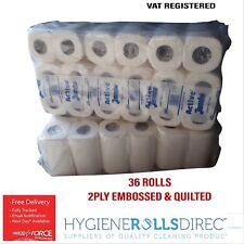 Rollo de papel higiénico 24 Rodillo Nicky suave lujoso tejido de tocador en relieve 2Ply Suave