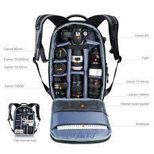 Large Camera Photo Backpack Bag w/ Tripod Holder Rain Cover for DSLR Canon Sony