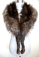 Vintage zorro pelzstole Stole estola guardián zorro plateado Silver Fox fur collar
