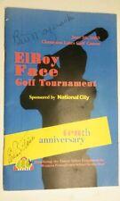 Autographed ElRoy Face Golf Tournament Program Bill Mazeraski signs also 2003 EX