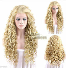 New Vogue Sexy Women's Long Blonde Cosplay Party Curly Wigs Fashion Girls Wig