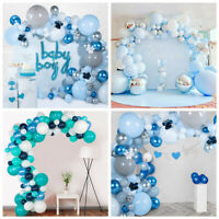 Macaron Blue Balloon Garland Arch Kit Baby Shower Birthday Wedding Party Decor