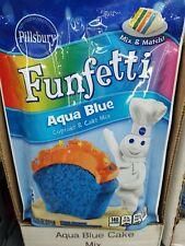 7 Pillsbury Funfetti Aqua Blue Cupcake & Cake Mix Party Makes 72 Cupcakes Total