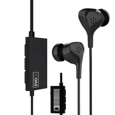 EvoDX Active Noise Isolation & Cancelling Earphones Headphones with Mic and Case