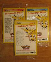 PL/SEALED Pokemon MOLTRES ARTICUNO ZAPDOS Card LEGENDARY BIRDS PROMO 21 22 23