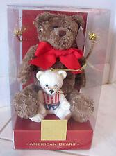 Teddy Bears 100th Anniversary 2002 Lenox Plush Bear and China Ornament - New/Bx