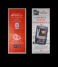 2 for 1 Vintage 1948/55  VEEDOL FLYING A MOTOR OIL Lg Half-Pg Magazine Print Ads