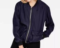 G Star Aeronautic Blue Full Zip Long Sleeve Bomber Jacket Ladies Small *Ref27