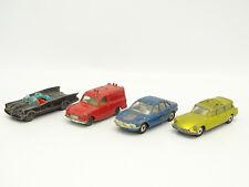 Husky - Lot de 4 : Citroen DS Safari / Batmobile / NSU RO 80 / Ford Thames Van