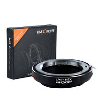 K&F Concept adapter for Leica M mount lens to Sony E mount NEX  a5000  A7II,A7R