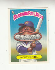 1986 TOPPS GARBAGE PAIL KIDS SERIES 4 CARD #140a mouth PHIL w/WANTED - NM/MT
