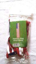 """Wind Sock Blazer US Flag Pattern In Outdoor Patriotic Decor 25"""" L x 4.75"""" W NIP"""