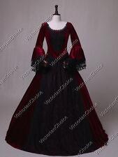 Victorian Queen Velvet Ball Gown Reenactment Steampunk Theater Costume N 153 XL