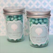 96 Personalized Beach Party Theme Mini Mason Jars Wedding Favor Candy Jars