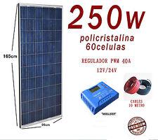 Kit Solar 250W 24V Panel fotovoltaico Regulador 40A Fotovoltaica LCD