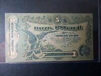 Banknote Russia 1917(UNC)5 rubles(Odessa).Rare.