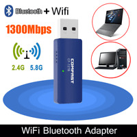 1200Mbps Wireless WiFi Adapter USB 3.0 Dongle Dual Band 5G/2.4G Bluetooth PC