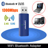 1200Mbps WiFi Dongle and Bluetooth  For PC Laptop Dual Band USB 3.0 Adapter UK