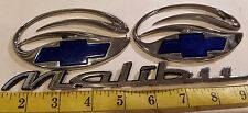CHEVY MALIBU SET OF EMBLEMS BLUE NO. 22638462 / 22638475 (3 PCS) {E12}