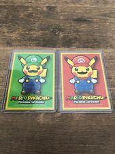 Mario Pikachu & Luigi Pikachu Sleeve (2 Sleeves (1 Mario & 1 Luigi)) Pokemon