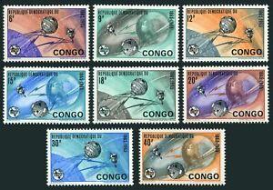 Congo DR 534-541,MNH.Michel 227-234, ITU-100,1965.Earth,Satellites.