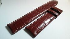 Certina Watch Band 20/18mm BROWN LEATHER WHITE STITCH XL 115/75mm lengths slight