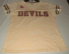 New Jersey Devils Shirt Ladies Large Yellow Red G-III For Her Collection NHL
