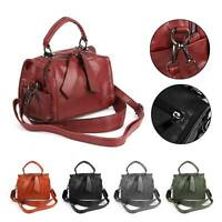 New Womens Leather Handbag Shoulder Messenger Tote Ladies School Bag