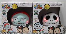 2-SET NIGHTMARE BEFORE CHRISTMAS TSUM TSUM Chatters Sally Jack Disney Plush NEW