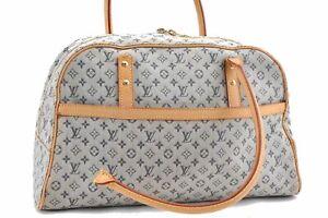 Authentic Louis Vuitton Monogram Mini Marie Blue Shoulder Bag M92003 Junk D2866