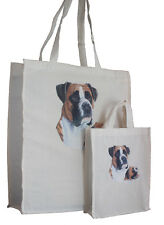 Boxer Dog Adult & Child Shopping or Dog Treats Packed Lunch etc Tote Bag