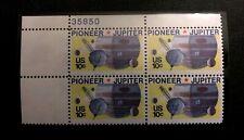 US Stamps Plate Blocks #1556 ~1975 - PIONEER JUPITER 10c Plate Block of 4