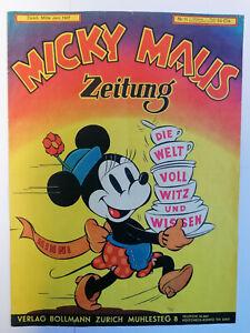 Micky Maus Zeitung Nr. 11 (1/1-) Bollmann Original 1936/1937