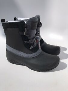 The North Face Womens Shellista III Shorty Waterproof Black/Grey Boot (Size 9.5)