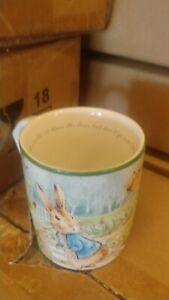 Williams Sonoma Peter Rabbit mugs set 4 Easter New in box
