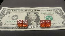 Super Rare Clear Red Peewee Dice 10mm loaded dice for craps