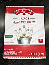 Holiday Time 100 Clear White Christmas Wedding Mini Lights String Indoor Outdoor