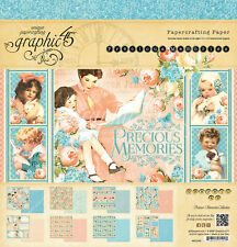 Graphic 45  Precious Memories 12x12 Double-Sided Cardstock Paper Pad Baby/Infant