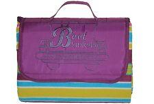 BOOT BLANKETS New Modern Waterproof Picnic Blanket /Rug (Purple)