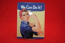 We can do it Frauenpower Blechschild 20x30 cm gewölbt - Schild Sign Schilder