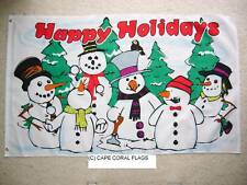 3' X 5' HAPPY HOLIDAYS CHRISTMAS SNOWMEN FLAG 3 X 5